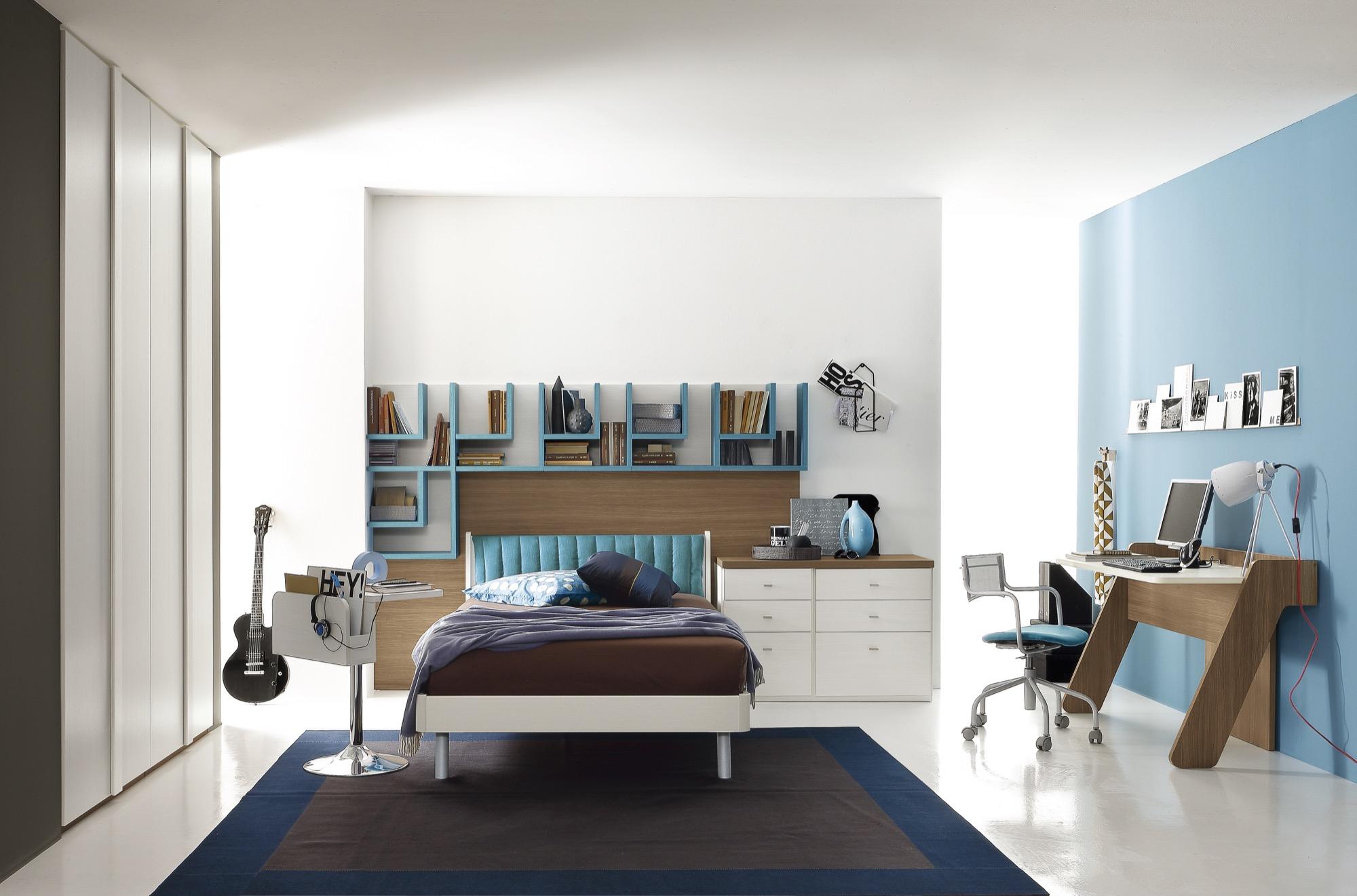 Camere ragazzi progetto notte young furlan mobili - Linea azzurra mobili ...