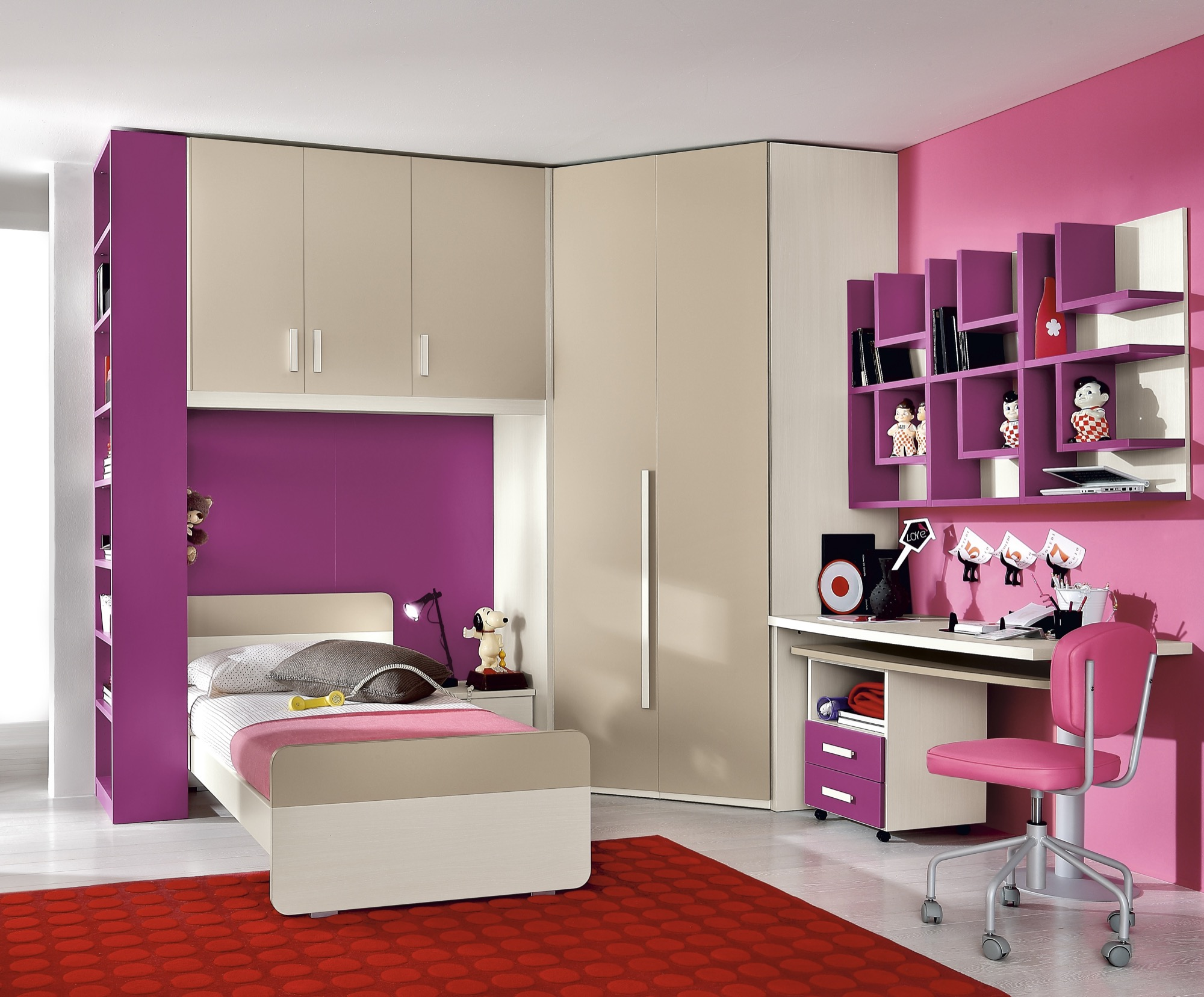 Camere per bambini   progetto notte young   furlan mobili